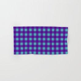 Buffalo Check Plaid in Purple and Turquoise Hand & Bath Towel