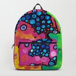 Whimsical Colorful Flower Bouquet by Sharon Cummings Backpack