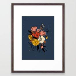 Dusky Floral Framed Art Print