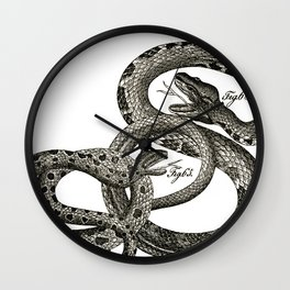 Vintage snakes Wall Clock