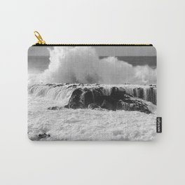 """Ocean Waves """"TABLE TOPS"""" B&W Carry-All Pouch"""