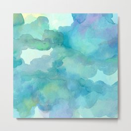 Breathing Under Water (Ocean Clouds) Metal Print
