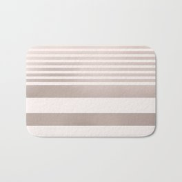 Rose Gold and Pink Stripes Mix Pattern Bath Mat