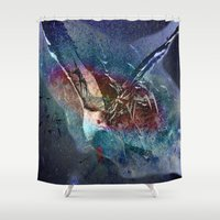 freedom Shower Curtains featuring freedom by  Agostino Lo Coco