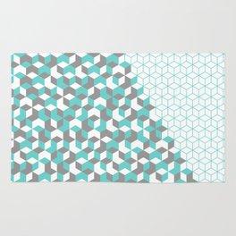 Hexagon(blue) #2 Rug