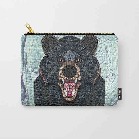 Ornate Black Bear Carry-All Pouch