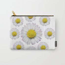 ALL WHITE SHASTA DAISY FLOWERS ART Carry-All Pouch