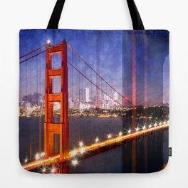 City Art Golden Gate Bridge Composing Tote Bag