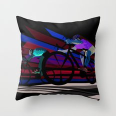 Illustration Graphic Design: Finish Line Throw Pillow
