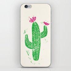 Linocut Cacti #2 iPhone & iPod Skin