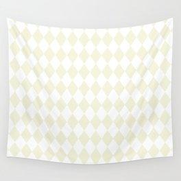 Diamonds (Beige/White) Wall Tapestry