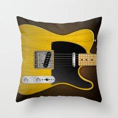 Total Telecaster Throw Pillow