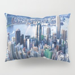 Hong Kong-Buildings Pillow Sham