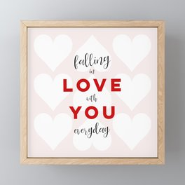 Falling in Love with You Everyday Framed Mini Art Print