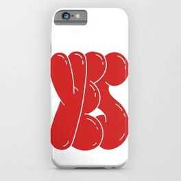 Yes - funny retro positive typography phrase iPhone Case