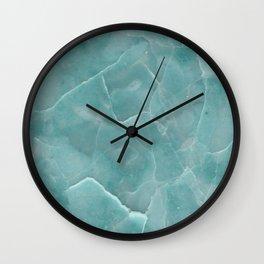 Ice Green Marble Wall Clock