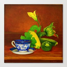 Teacup with Squash Canvas Print