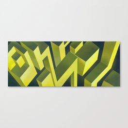 Cubic thunders Canvas Print