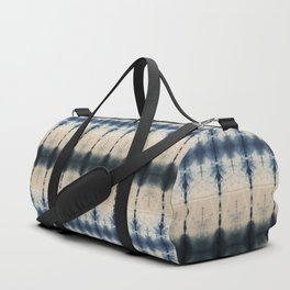 Dark Shibori Blues Duffle Bag