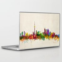toronto Laptop & iPad Skins featuring Toronto Skyline by artPause
