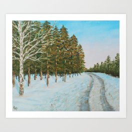 Frozen Path Art Print