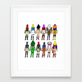 Superhero Butts - Girls Superheroine Butts LV Framed Art Print