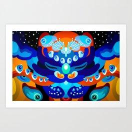 Eye bending Dragon Art Print