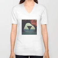 portal V-neck T-shirts featuring Portal by maysgrafx