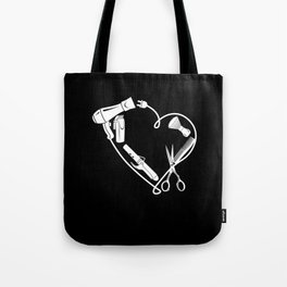 Barber Hairdresser Scissors Comb As A Heart Gift Tote Bag