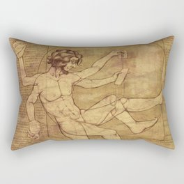 Vitruvian Man 2.0 Rectangular Pillow
