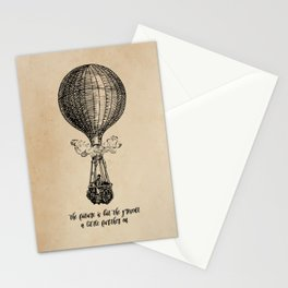 Jules Verne - The future is but the present Stationery Cards