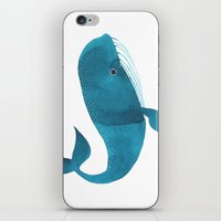 oana befort iPhone & iPod Skins featuring HAPPY WHALE by Oana Befort