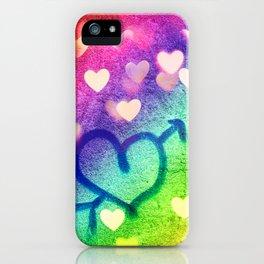 Graffiti Hearts  iPhone Case