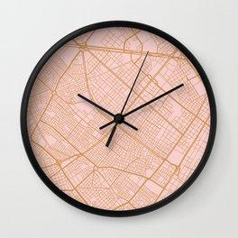 Bogota map Wall Clock