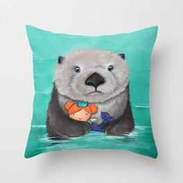 When I Grow Up I Want to be a Mermaid Throw Pillow