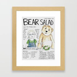 Bear Salad Framed Art Print