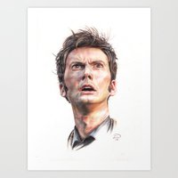 david tennant Art Prints featuring David Tennant by Darina Nossova
