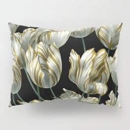 Winter Tulips in Gold. Pillow Sham