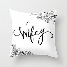 Wifey Throw Pillow