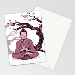 Buddha Relaxing Stationery Cards