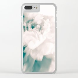 White peonies 55 Clear iPhone Case