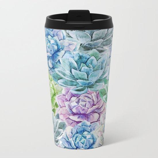 Cactus Pattern 16 Metal Travel Mug