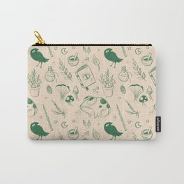 Garden Witch Pattern Carry-All Pouch