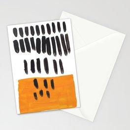 Mango Rain Mid Century Modern Minimalist Funky Cool Shapes Stationery Cards
