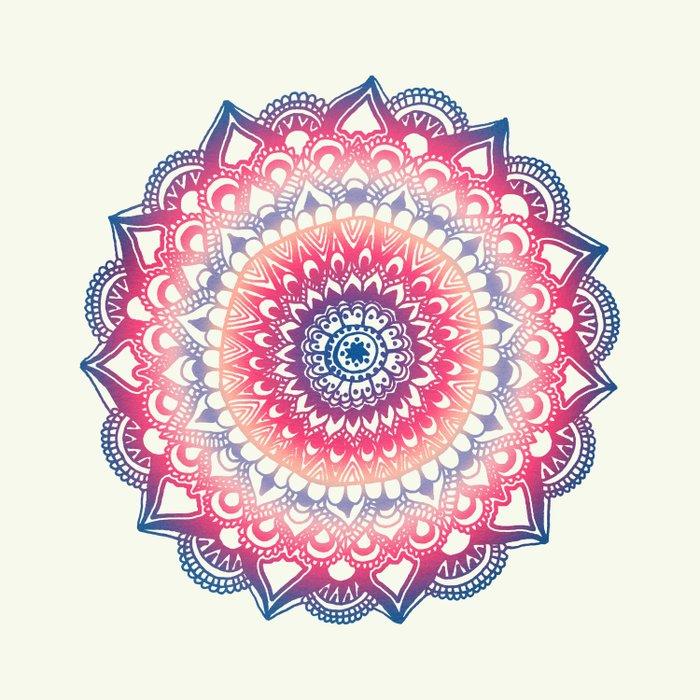 Ocean Sunset Mandala Duvet Cover