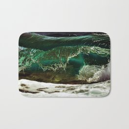 Glass-like Turquoise Waves Photography Bath Mat