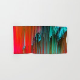Nice Day for a Walk - Abstract Glitchy Pixel Art Hand & Bath Towel