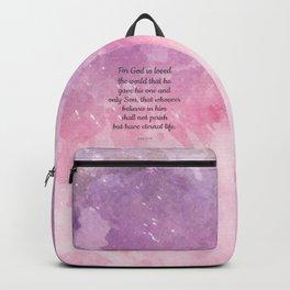 John 3:16, For God So Loved the World Scripture Backpack