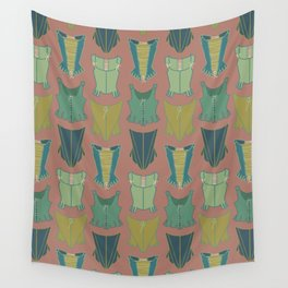 18th Century Corset Stays Illustrated Pattern Print Wall Tapestry