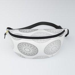 Minimal Mandalas - Black White Grey Pattern Fanny Pack